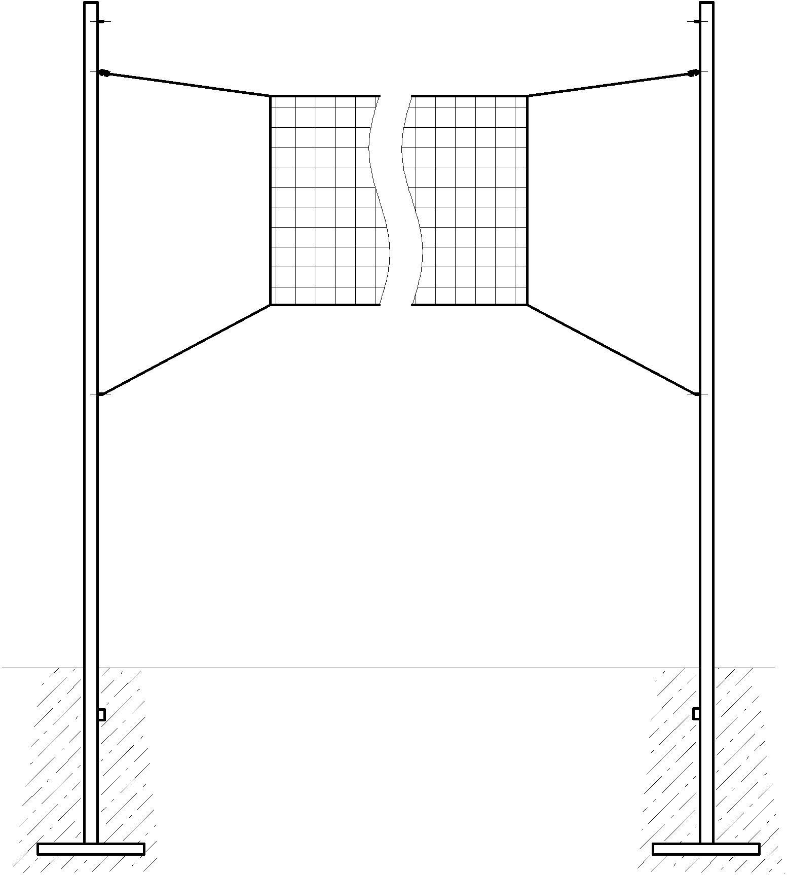 размеры волейбольная площадка схема