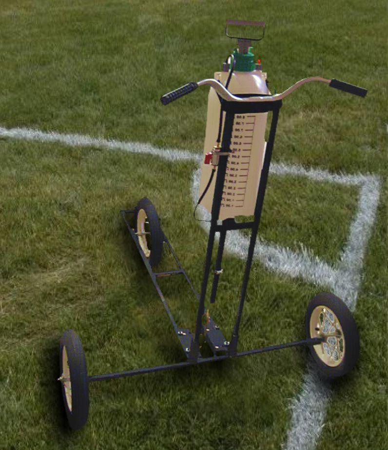 Машинка для разметки футбольного поля схема